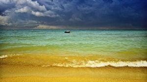 laivelis juroje plaukiam
