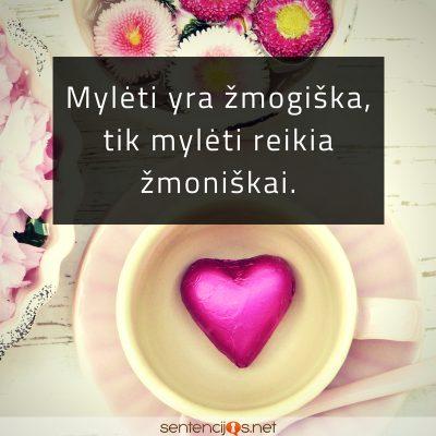 Mylėti yra žmogiška