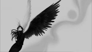 moteris angelas